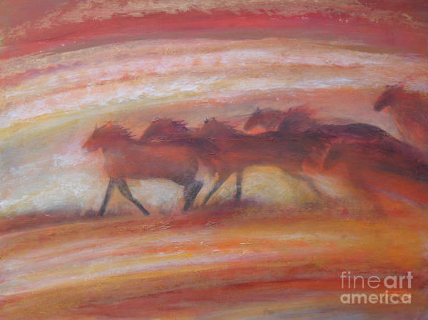 Horse Poster featuring the painting Wind Chasers by Kip Decker