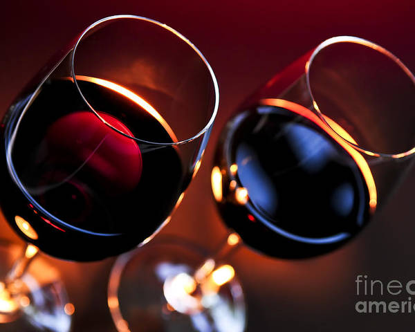 Wine Poster featuring the photograph Wineglasses by Elena Elisseeva