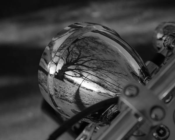 Motorcycle Poster featuring the photograph Winter In The Headlight by Patrick Flynn