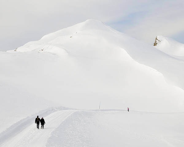 Winter Poster featuring the photograph Winter Mountain Landscape With Lots Of Snow by Matthias Hauser