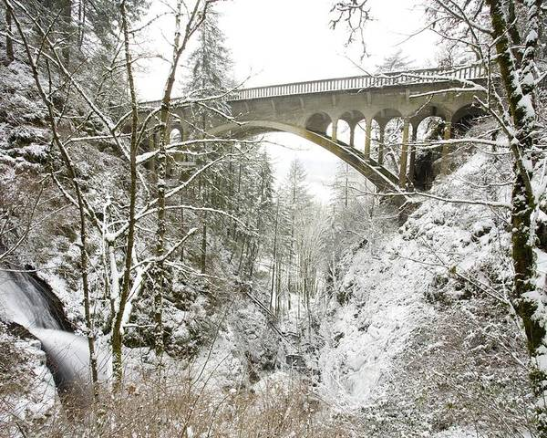 Architectural Exterior Poster featuring the photograph Winter, Shepperds Dell, Columbia River by Craig Tuttle