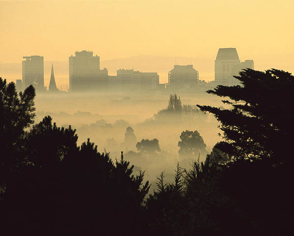 Hhh Poster featuring the photograph Winter Smog Over The City by Colin Monteath