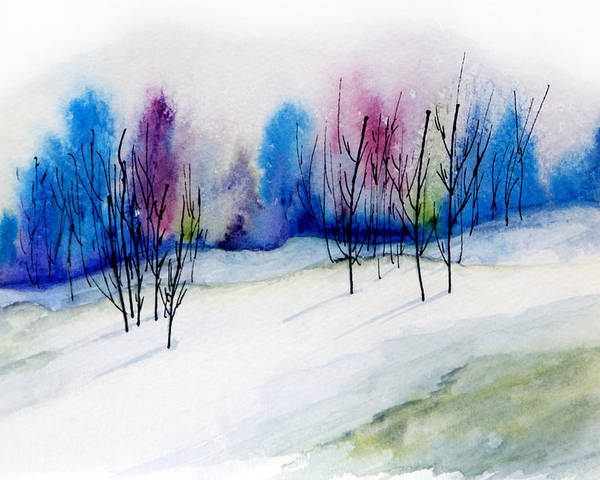 Watercolor Poster featuring the painting Winter Sorbet by Lynne Furrer