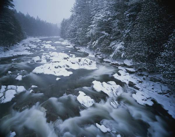 North America Poster featuring the photograph Winter View Of The Ausable River by Michael Melford