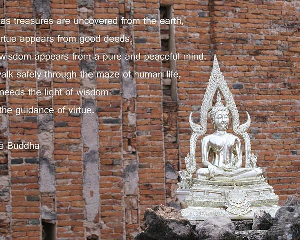 Buddha Poster featuring the photograph Wisdom And Virtue by Gregory Smith