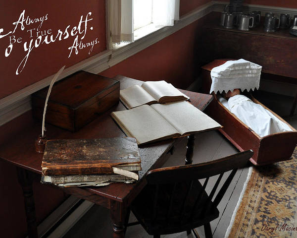 The Writing Desk Poster featuring the photograph Writers Desk by Daryl Macintyre