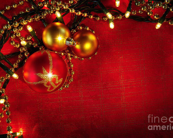 Backdrop Poster featuring the photograph Xmas Frame by Carlos Caetano