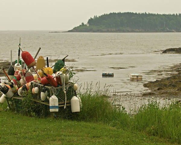 mid Coast Maine Poster featuring the photograph Yard Art by Paul Mangold