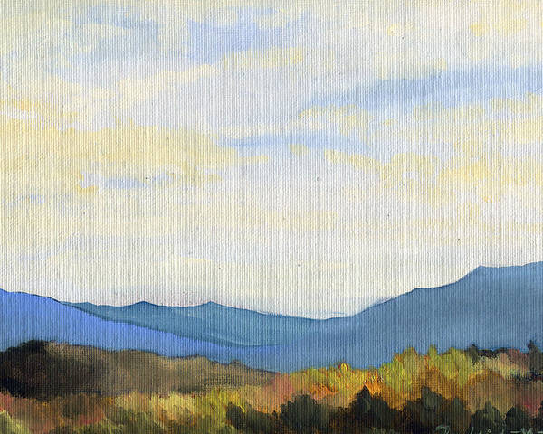 East Tennessee Poster featuring the painting Yellow Ridge by Mark Froehlich