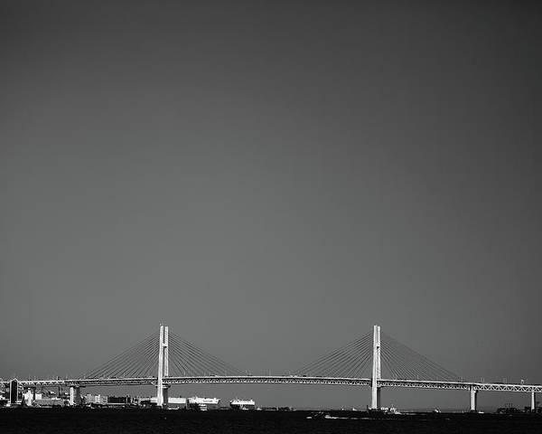 Horizontal Poster featuring the photograph Yokohama Bay Bridge by Kiyoshi Noguchi