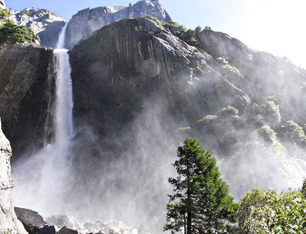 I Took This Photography A Few Years Ago Whilst Visiting The Us. It Was A Beautiful Spring Day. Poster featuring the photograph Yosemite Falls by Linde Townsend