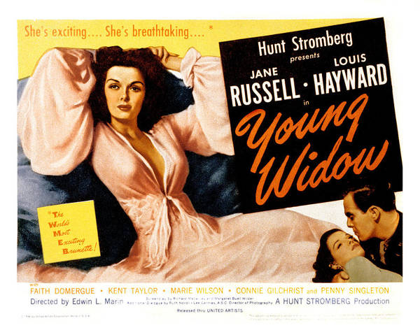 1940s Movies Poster featuring the photograph Young Widow, Jane Russell, 1946 by Everett