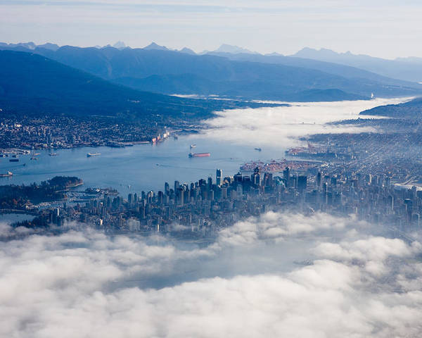 Vancouver Poster featuring the photograph An Aerial View Of Vancouver by Taylor S. Kennedy