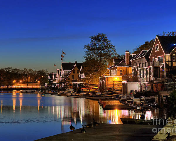 Philadelphia Poster featuring the photograph Boathouse Row by John Greim