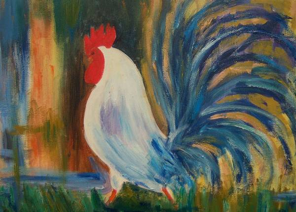 Rooster Poster featuring the painting El Diablo by Renee Gandy