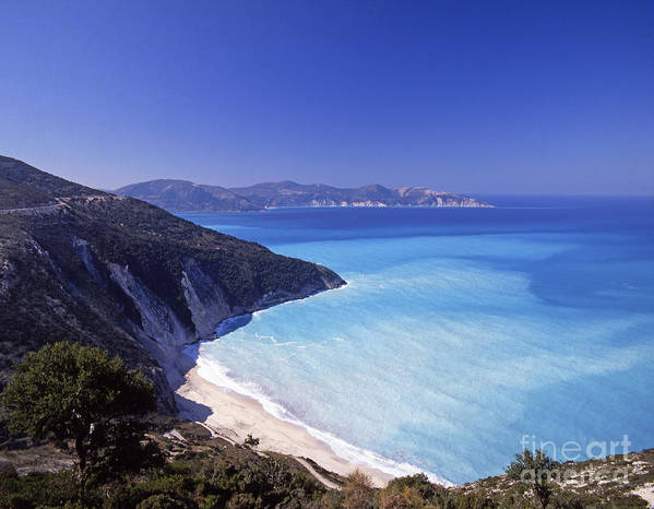 Greece Poster featuring the photograph Kefallonia Blues by Steve Outram