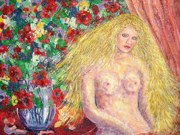 Nude Poster featuring the painting Nude Fantasy by Natalie Holland