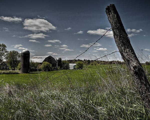 Country Poster featuring the photograph Prairie Farm by Deborah Klubertanz