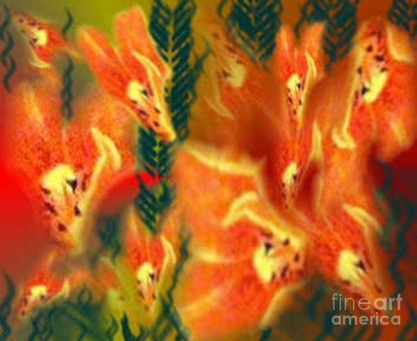 Florals Poster featuring the digital art Symphonic Dance by Brenda L Spencer