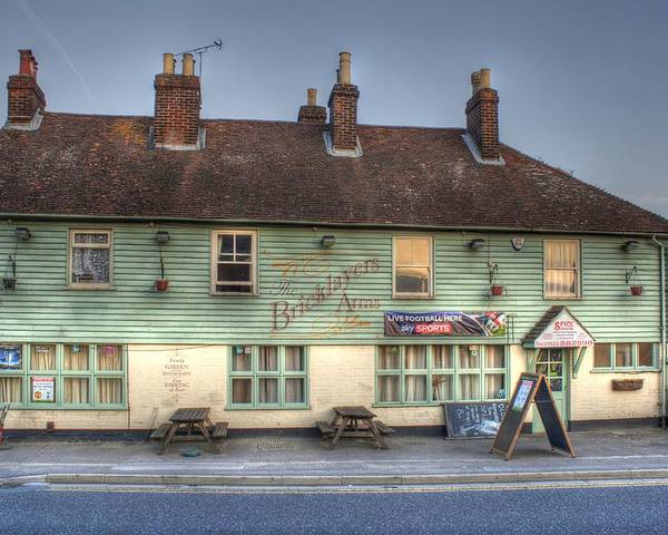 The Bricklayers Arms New Hythe Poster featuring the photograph The Bricklayers Arms New Hythe by Dave Godden
