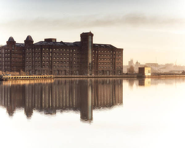 Liverpool Poster featuring the photograph The Old Flour Mills by Rob Lester