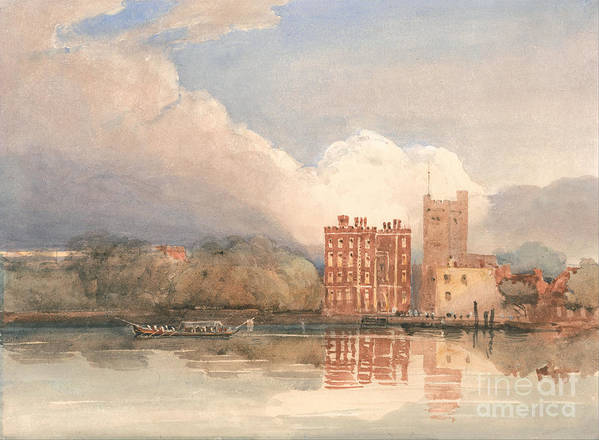 David Cox - View Of Lambeth Palace On Thames Poster featuring the painting View Of Lambeth Palace On Thames by Celestial Images