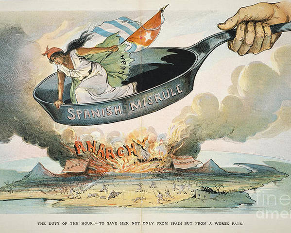 1898 Poster featuring the painting Spanish-american War, 1898 by Granger
