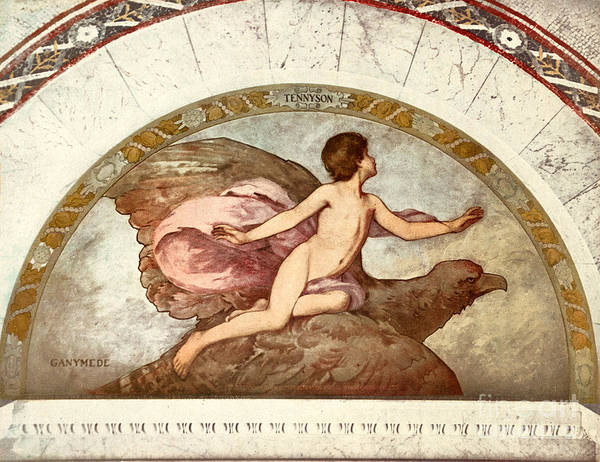 1901 Poster featuring the painting Ganymede, C1901 by Granger