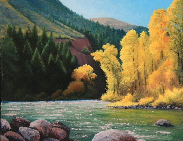 Landscape Poster featuring the painting 031008-1620  Fall Wardrobe by Kenneth Shanika