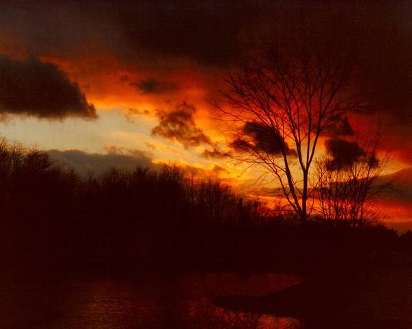 Sunrise Poster featuring the photograph 072806-3 by Mike Davis