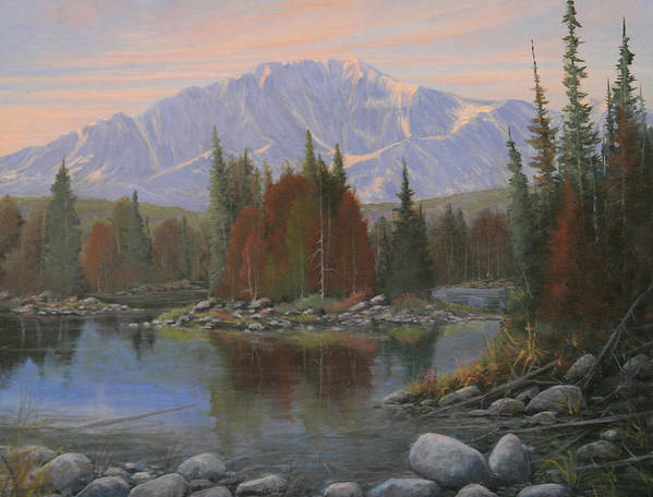 Landscape Poster featuring the painting 090506-1418  Colorado Morning by Kenneth Shanika