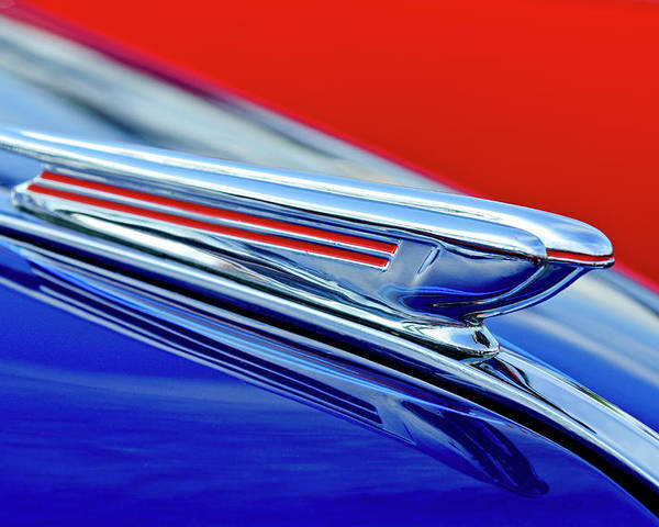 1938 Chevrolet Poster featuring the photograph 1938 Chevrolet Hood Ornament 2 by Jill Reger