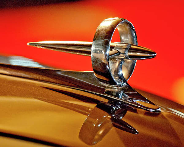 1947 Buick Poster featuring the photograph 1947 Buick Roadmaster Hood Ornament by Jill Reger