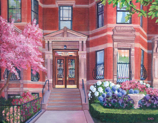 238 Marlborough Street Poster featuring the painting 238 Marlborough Street by Laura DeDonato
