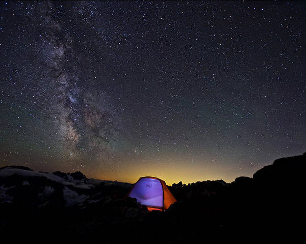 Background Poster featuring the photograph 5 Billion Stars Hotel by Evgeny Vasenev