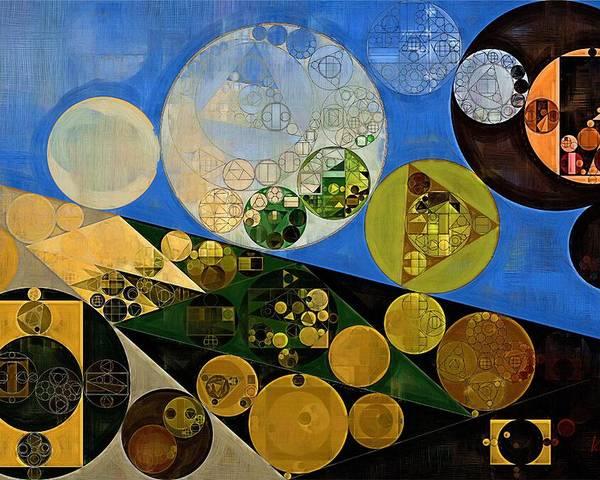Canvas Poster featuring the digital art Abstract Painting - Lochmara by Vitaliy Gladkiy