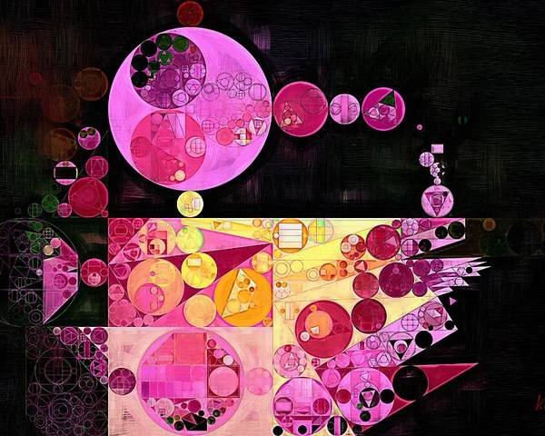 Colors Poster featuring the digital art Abstract Painting - Mauvelous by Vitaliy Gladkiy