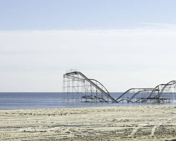 Seaside Heights Poster featuring the photograph After Hurricane Sandy by Erin Cadigan