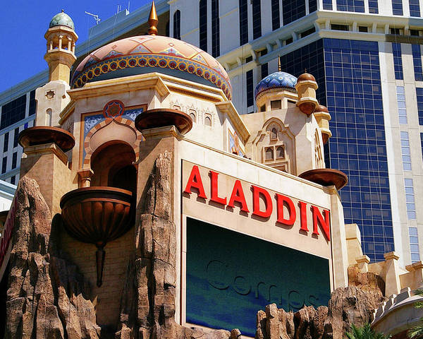 Aladdin Poster featuring the photograph Aladdin Hotel Casino by Mariola Bitner