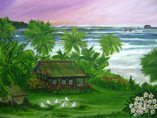 Hawaii Poster featuring the painting Aloha Morning by Laura Johnson