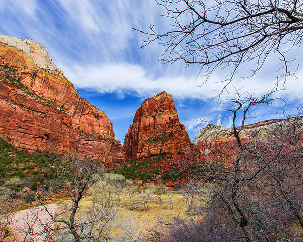 Angels Landing Poster featuring the photograph Angels Landing by Chad Dutson
