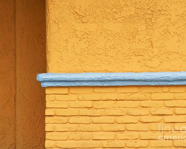 Yellow Poster featuring the photograph Around The Corner by Dan Holm