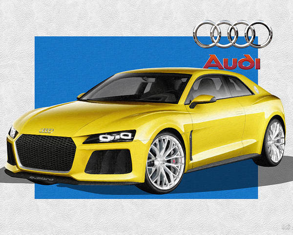 �audi� Collection By Serge Averbukh Poster featuring the photograph Audi Sport Quattro Concept with 3 D Badge by Serge Averbukh