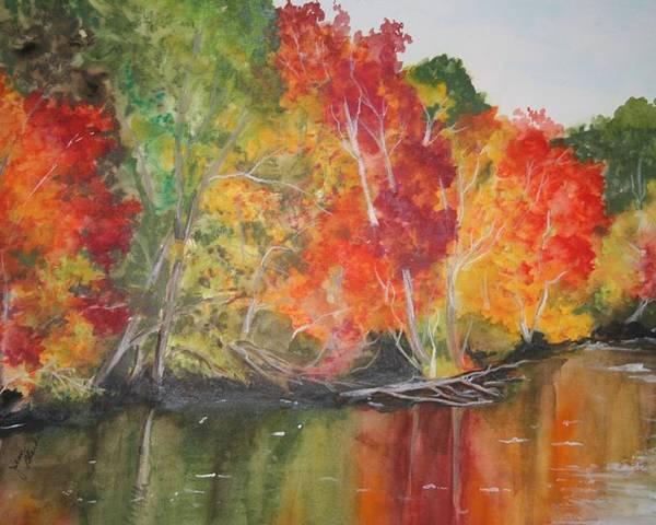 Autumn Poster featuring the painting Autumn Splendor by Jean Blackmer