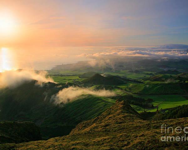 Coast Poster featuring the photograph Azores Islands Landscape by Gaspar Avila