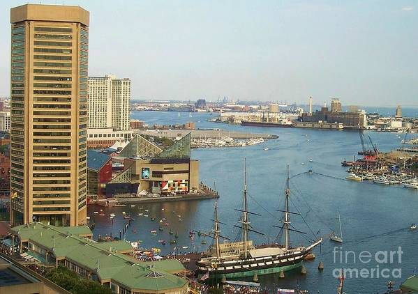 Baltimore Poster featuring the photograph Baltimore by Debbi Granruth