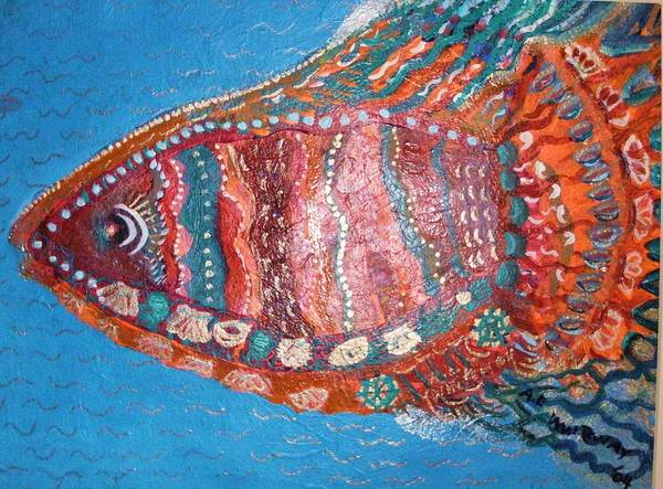 Fish Poster featuring the mixed media Barracuda Lite by Anne-Elizabeth Whiteway