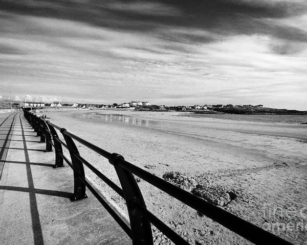 Treaddur Poster featuring the photograph Beach At Trearddur Bay Anglesey North Wales Uk by Joe Fox