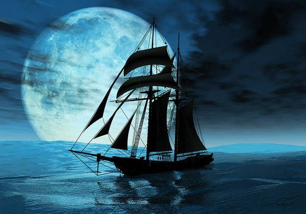 Sailing Ships Poster featuring the digital art Before The Storm by Steven Palmer