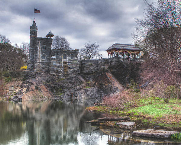 Belvedere Castle Poster featuring the photograph Belvedere Castle by Ariane Moshayedi